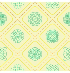 Seamless background with Celtic geometric ornament vector image vector image