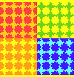 set of bright seamless patterns vector image vector image