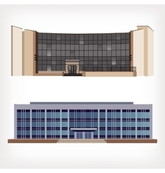Set of two of modern buildings vector