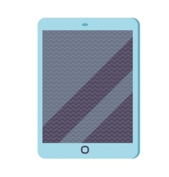 Tablet infographic icon flat vector image vector image