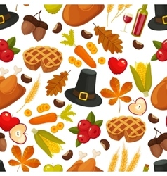 Thanksgivin day seamless backgroundSymbols of vector image