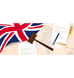 uk united kingdom england britain law constitution vector image