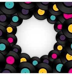 Vinyl record background with space for text vector image
