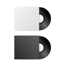 Vinyl Record Blank vector image