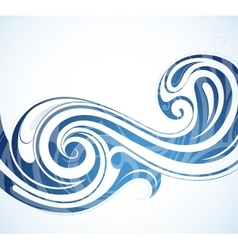 Water theme backdrop vector image