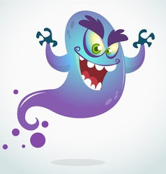 Cartoon flying monster for halloween vector