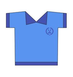 Icon in flat design golf shirt vector