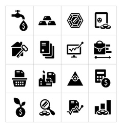 Set icons of investment and finance vector