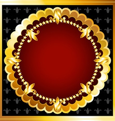 Luxurious gold frame vector