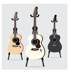 Acoustic electric guitar set vector