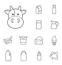 Milk icon vector