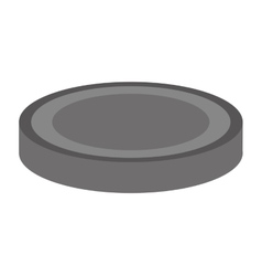 Hockey puck icon vector