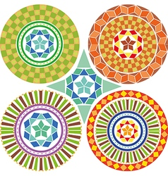 A set of geometric patterns mandalas vector image vector image