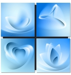 Abstrakt blue background vector image vector image