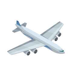 Airplane icon in isometric projection vector