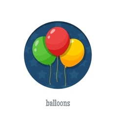 Balloons round icon vector image