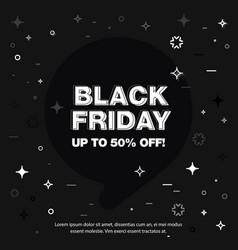 banner sale of 50 off black friday vector image