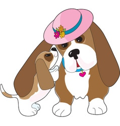 Basset talk mom vector