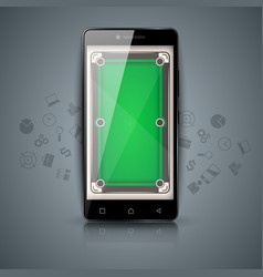 digital gadget smartphone - billiard vector image