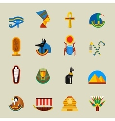 Egypt icons set vector image vector image