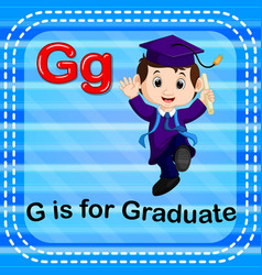 Flashcard letter g is for graduate vector
