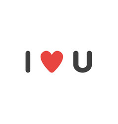 Flat design style concept of i love you vector