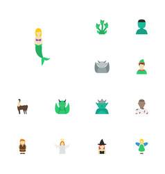 Flat icons character magic mythology and other vector