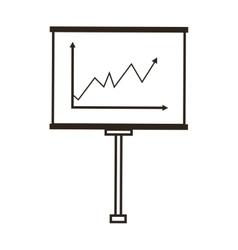 graph on board icon vector image vector image