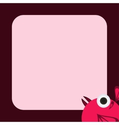 greeting card with a funny pink bird vector image