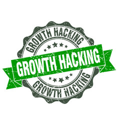 growth hacking stamp sign seal vector image vector image