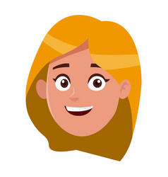 happy woman face of young female vector image