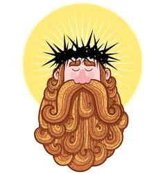 Jesus portrait vector