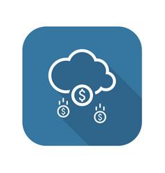 Make money icon business concept flat design vector