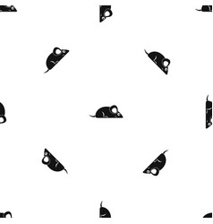 Pet mouse pattern seamless black vector