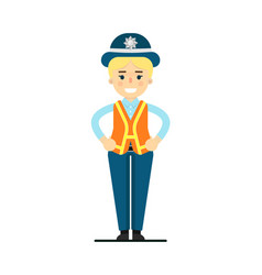 Police woman in uniform vector