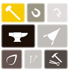 Seamless background with blacksmith tools vector image