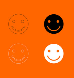 smile icon vector image vector image