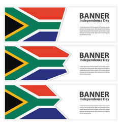 South africa flag banners collection independence vector