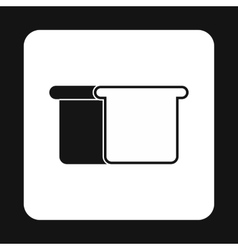 Toast bread icon simple style vector