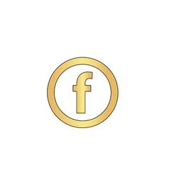 F letter computer symbol vector