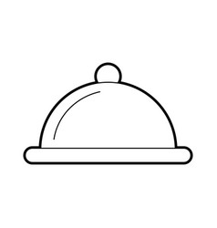 Tray server isolated icon vector
