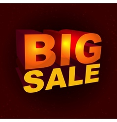 Sale label in 3d-style vector