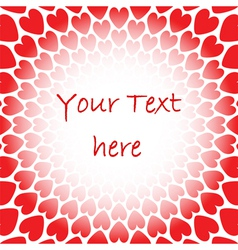 Design red heart perspective background for text vector