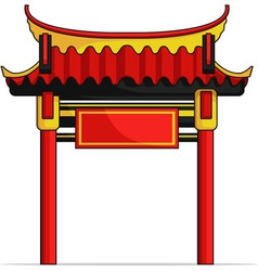 Chinese gate vector