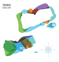 Abstract color map of yemen vector