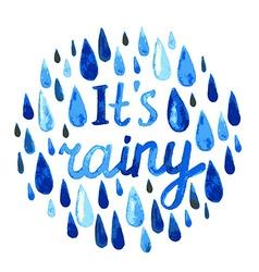 watercolor rain vector image