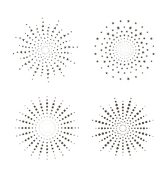 Starburst fireworks shapes vector