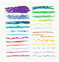 Art brushes set vector