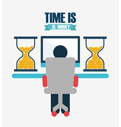 Time is money design vector