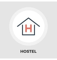 Hostel flat icon vector